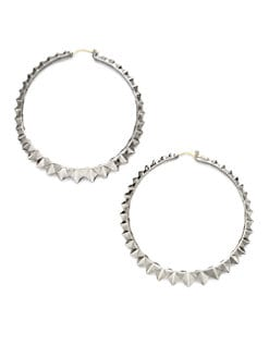 Stephen Webster - Sterling Silver Studded Hoops