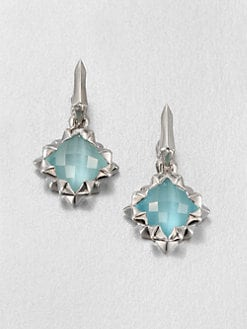 Stephen Webster - Blue Cat's-Eye Doublet & Sterling Silver Drop Earrings