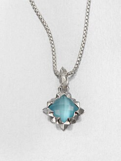 Stephen Webster - Blue Cat's-Eye Doublet & Sterling Silver Pendant Necklace