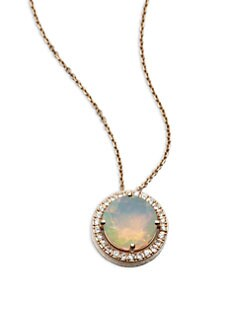 KALAN by Suzanne Kalan - Semi-Precious Multi-Stone & 14K Rose Gold Pendant Necklace