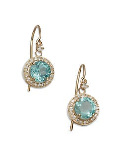 KALAN by Suzanne Kalan - Semi-Precious Multi-Stone & 14K Gold Drop Earrings