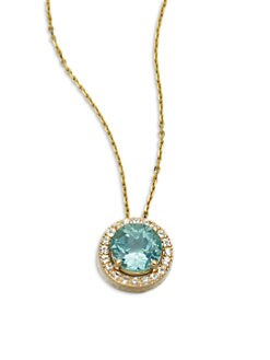 KALAN by Suzanne Kalan - Semi-Precious Multi-Stone & 14K Gold Pendant Necklace
