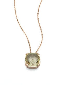 KALAN by Suzanne Kalan - Lemon Quartz & 14K Rose Gold Pendant Necklace