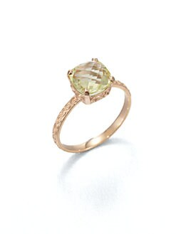 KALAN by Suzanne Kalan - Lemon Quartz & 14K Rose Gold Ring