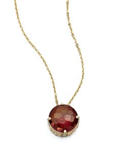 KALAN by Suzanne Kalan - Crimson Topaz & 14K Gold Pendant Necklace
