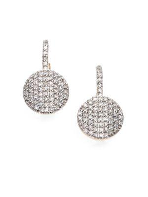 PHILLIPS HOUSE Pavé Diamond & 14K Yellow Gold Petite Infinity Drop Earrings
