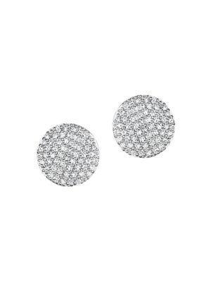 PHILLIPS HOUSE Pavé Diamond & 14K Yellow Gold Infinity Stud Earrings