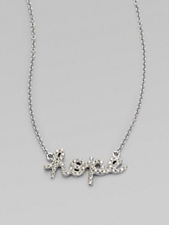 Sydney Evan - Diamond Accented 14K White Gold Hope Necklace