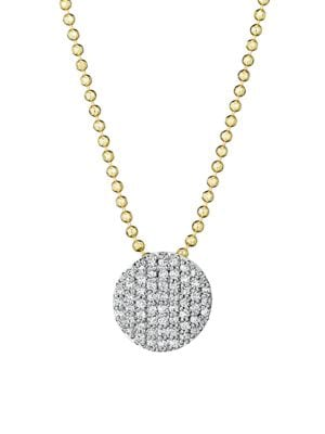 PHILLIPS HOUSE 14K Gold & Diamond Mini Infinity Pendant Necklace