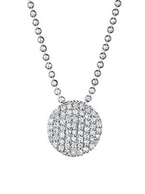 PHILLIPS HOUSE 14K White Gold & Diamond Mini Infinity Pendant Necklace