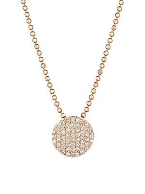 PHILLIPS HOUSE 14K Rose Gold & Diamond Mini Infinity Pendant Necklace