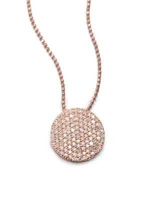 PHILLIPS HOUSE 14K Rose Gold & Diamond Infinity Pendant Necklace