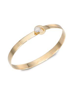 PHILLIPS HOUSE Love Always Diamond & 14K Yellow Gold Bangle Bracelet