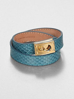 Fendi - Double Wrap Leather Bracelet