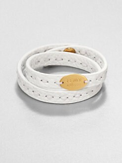 Fendi - Leather Double-Wrap Bracelet