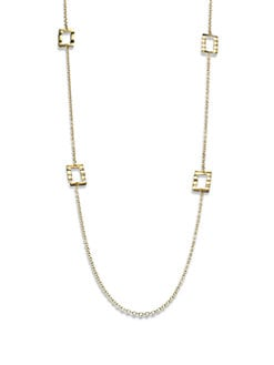 IPPOLITA - 18K Gold Rectangular Station Necklace