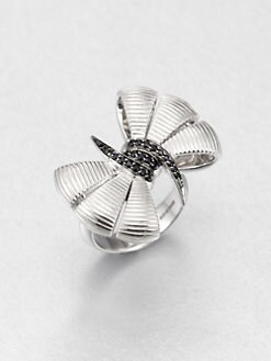 Stephen Webster - Black Sapphire and Sterling Silver Bow Ring