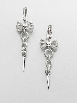 Stephen Webster - Sterling Silver Bow and Link Drop Earrings