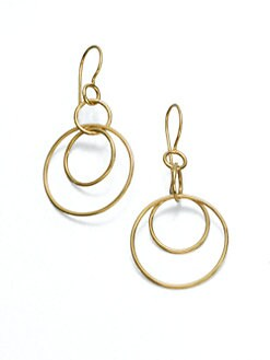 IPPOLITA - 18K Yellow Gold Circle Earrings