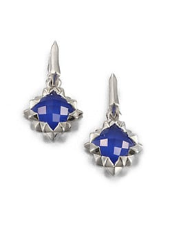 Stephen Webster - Blue Agate Doublet & Sterling Silver Drop Earrings