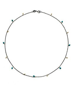 Mizuki - Turquoise & 14K Gold Necklace