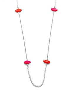 Delfina Delettrez - Pearl Accented Lip Station Necklace
