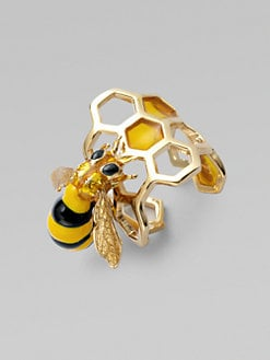 Delfina Delettrez - Honeycomb Bee Ring