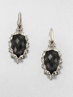 Stephen Webster - Grey Cat's-Eye Doublet & Sterling Silver Drop Earrings