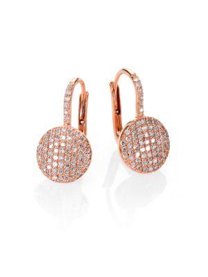 PHILLIPS HOUSE Affair Diamond & 14K Rose Gold Petite Infinity Earrings
