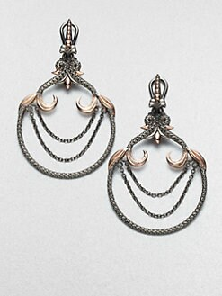 Stephen Webster - Textured Sterling Silver Earrings