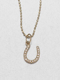 Sydney Evan - Diamond & 14K Yellow Gold Horseshoe Necklace