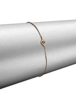 Sydney Evan - Diamond, Sapphire & 14K Yellow Gold Mini Eye Chain Bracelet