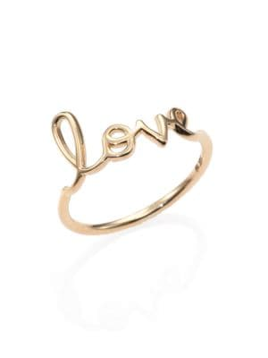 14K Yellow Gold Pure Love Ring
