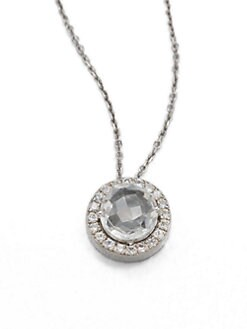 KALAN by Suzanne Kalan - Semi-Precious Multi-Stone & 14K White Gold Pendant Necklace