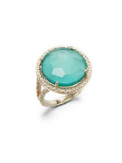 KALAN by Suzanne Kalan - Green Onyx 14K Yellow Gold Doublet Ring