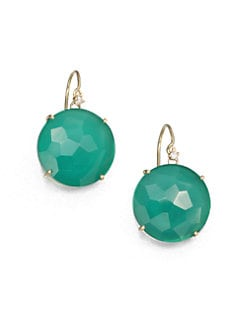 KALAN by Suzanne Kalan - Green Onyx Doublet & 14K Gold Drop Earrings