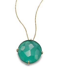 KALAN by Suzanne Kalan - Green Onyx Doublet & 14K Gold Pendant Necklace
