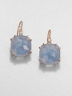 KALAN by Suzanne Kalan - Blue Agate & 14K Rose Gold Drop Earrings