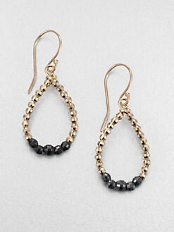 Mizuki - 14K Gold & Sterling Silver Beaded Drop Earrings