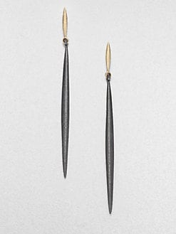 Mizuki - 14K Gold & Sterling Silver Icicle Drop Earrings