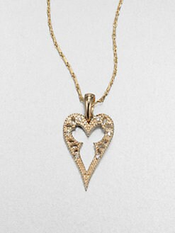 Mizuki - 14K Gold & Diamond Heart Pendant Necklace