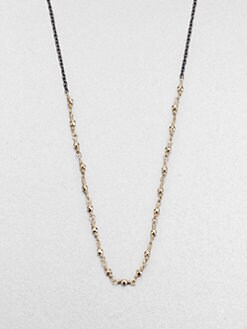 Mizuki - 14K Gold & Sterling Silver Beaded Link Necklace