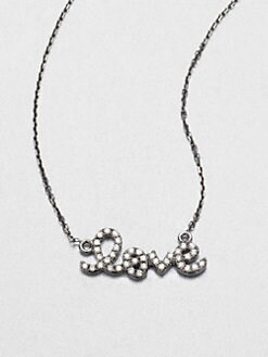 Sydney Evan - Diamond Accented Love Pendant Necklace/Black Rhodium