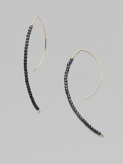 Mizuki - 14K Yellow Gold & Sterling Silver Hoop Earrings