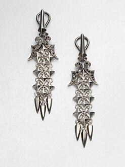 Stephen Webster - Black Sapphire and Sterling Silver Drop Earrings