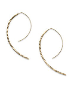 Mizuki - 14K Yellow Gold Marquis-Shaped Earrings