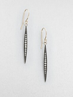 Mizuki - Diamond, Sterling Silver & 14K Yellow Gold Icicle Earrings/Small