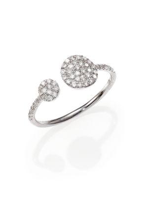 Diamond & 14K White Gold Wrap Ring