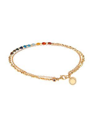Biography Semi-Precious Multi-Stone & White Sapphire Cosmos Beaded Friendship Bracelet