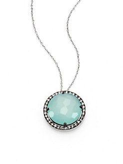 KALAN by Suzanne Kalan - 14K White Gold Semi-Precious Multi-Stone Pendant Necklace/Amethyst